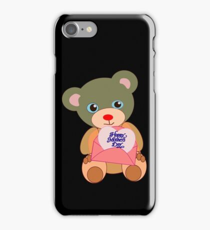 Teddy with mother's day message (5773 views) iPhone Case/Skin
