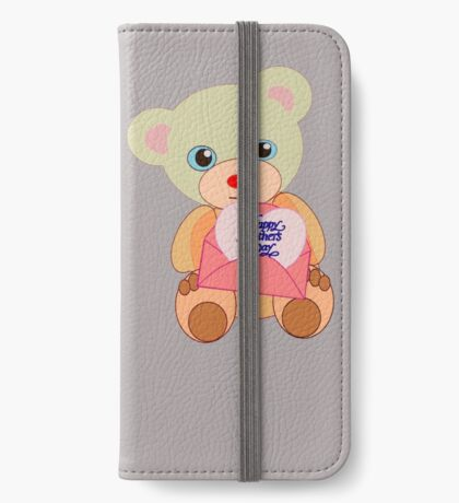 Teddy with mother's day message (5817 views) iPhone Wallet