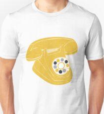 Yellow Retro Telephone T-Shirt