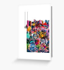 Cool Graffiti Collage 3 Greeting Card
