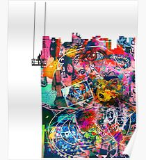 Cool Graffiti Collage 3 Poster