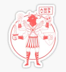 Minotaur Of Mars ( Tuff Guy No.4 ) Sticker
