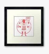 Minotaur Of Mars ( Tuff Guy No.4 ) Framed Print