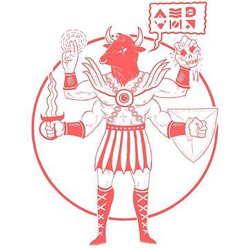 Minotaur Of Mars ( Tuff Guy No.4 ) by BuzzBadsville