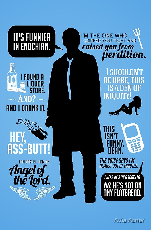 Quot Castiel Quotes Quot Posters By Avia Asner Redbubble