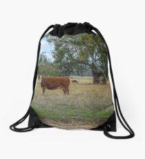 Hereford cow... Drawstring Bag