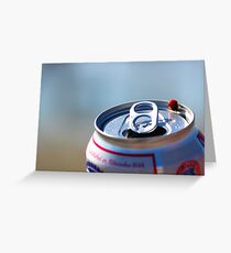 Pabst Blue Lady Greeting Card