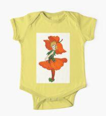 Cute Vintage Flower Child Scarlet Poppy Girl Kids Clothes