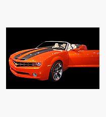 Orange Camaro II Photographic Print