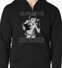 Keep Punching (Boxing) Zipped Hoodie