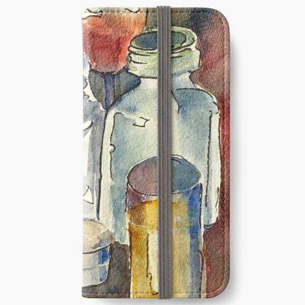 Still Life with Wine Glass iPhone Wallet