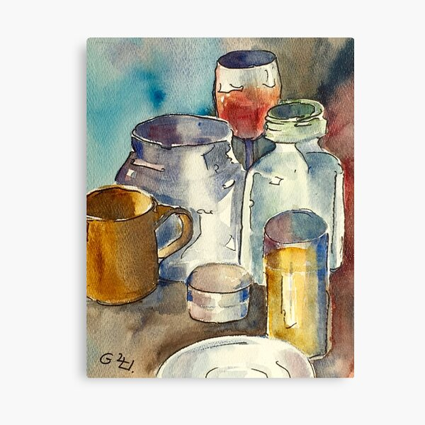 Still Life with Wine Glass Canvas Print