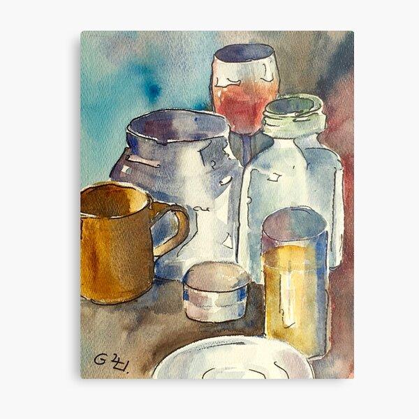 Still Life with Wine Glass Metal Print