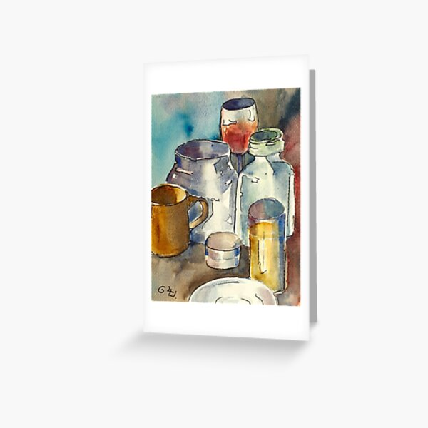Still Life with Wine Glass Greeting Card