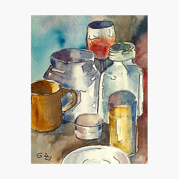 Still Life with Wine Glass Photographic Print