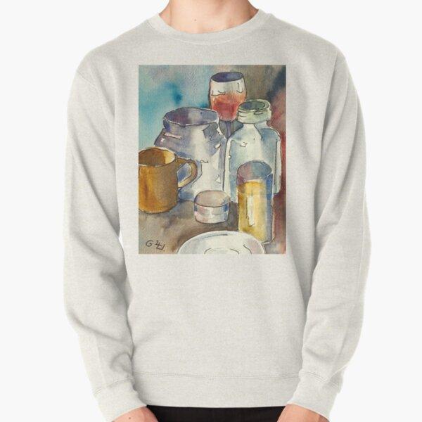 Still Life with Wine Glass Pullover Sweatshirt