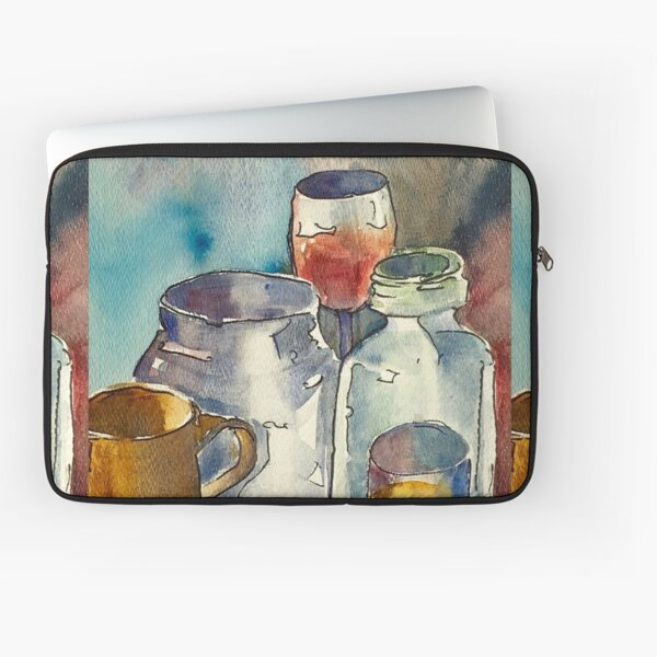 Still Life with Wine Glass Laptop Sleeve