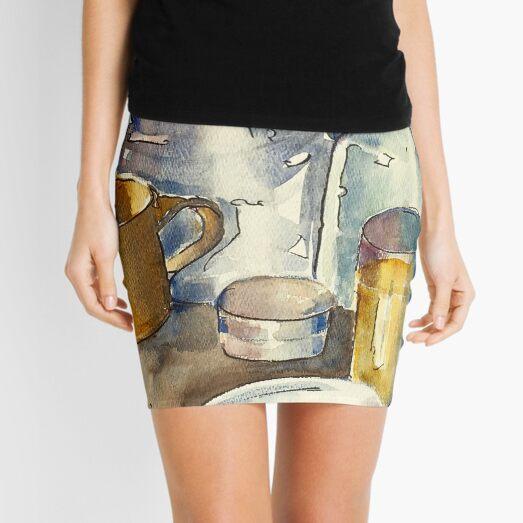 Still Life with Wine Glass Mini Skirt