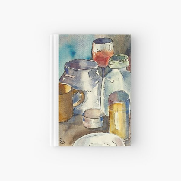 Still Life with Wine Glass Hardcover Journal