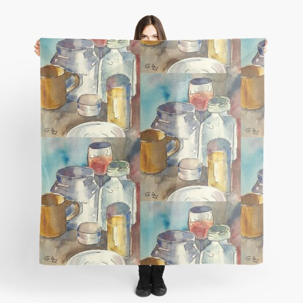 Still Life with Wine Glass Scarf