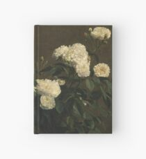 Cuaderno de tapa dura Henri Fantin Latour - Naturaleza muerta de las rosas blancas (1870)