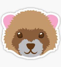 Ferret face Sticker