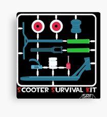 Scooter survival kit Canvas Print