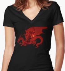 Dragin age logo Women's Fitted V-Neck T-Shirt