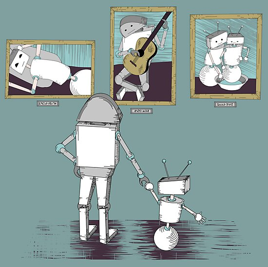 Robots like art too. by Danielle Kerese