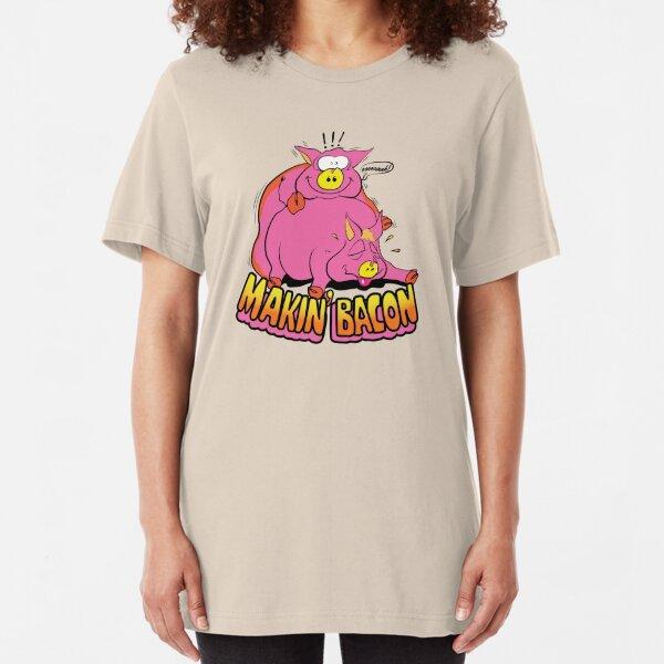 Makin' Bacon Slim Fit T-Shirt