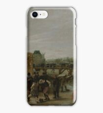 Hendrick Avercamp - Frolicking On A Frozen Canal In A Town iPhone Case/Skin