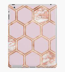 Copper blush marble hexagons iPad Case/Skin