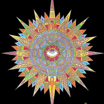 3rd Eye Mandala by mingusthecat