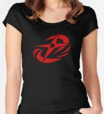 Ninja Steel - Red Women's Fitted Scoop T-Shirt