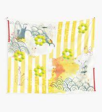 asien style,abstrakt,stripe patterns, Landschaft,landscape,cube Wall Tapestry