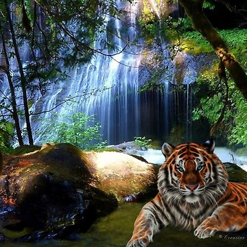 C.E. Tiger By Jungle Falls by galet09
