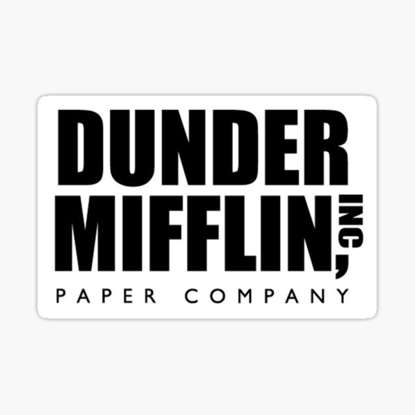Dunder Mifflin, INC. Sticker