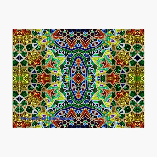The Magic of Colours Joined Together for Glass Design Photographic Print