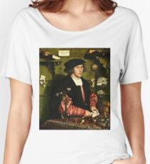 Hans Holbein The Younger - The Merchant Georg Gisze 1532 Women's Relaxed Fit T-Shirt