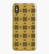 Spicy Mustard Floral Geometric iPhone Case/Skin