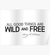 wild and free - thoreau Poster