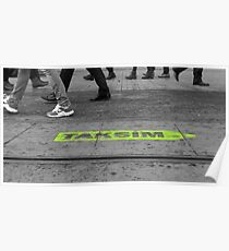 people walking on the street  Poster