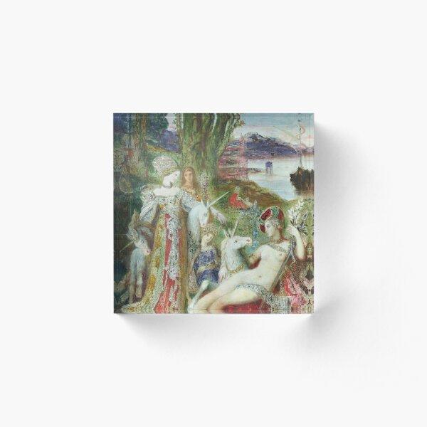 Gustave Moreau - Die Einhörner Acrylblock