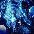 Blue Lightning Dragon by Alanpearce