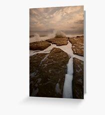 Bar Beach Rock Platform 12 Greeting Card
