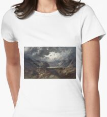 Gustave Dore - Loch Lomond Womens Fitted T-Shirt