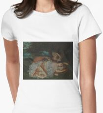 Gustave Courbet - Young Ladies On The Bank Of The Seine Womens Fitted T-Shirt