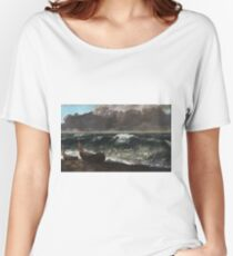 Gustave Courbet - The Wave 1869 1 Women's Relaxed Fit T-Shirt