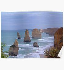 Survivors in Stone - Great Ocean Road, Victoria Australia Poster