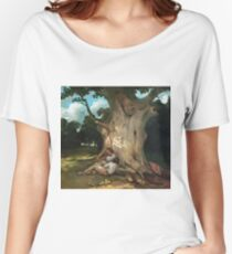 Gustave Courbet - The Large Oak Women's Relaxed Fit T-Shirt